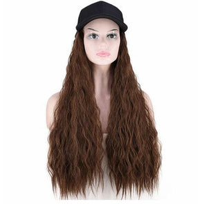 Light brown big roll hat wig