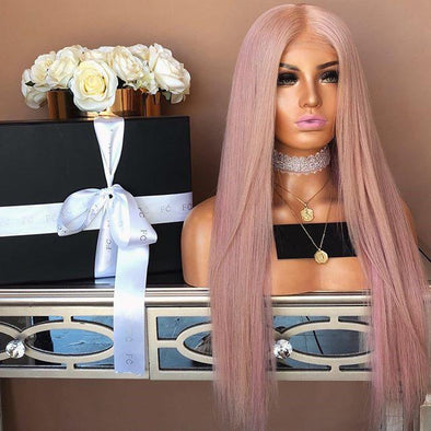 Light pink long straight hair