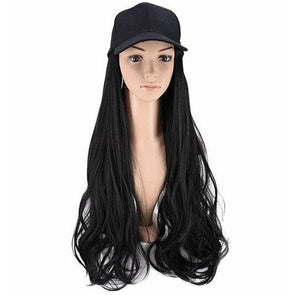 Black small roll hat wig