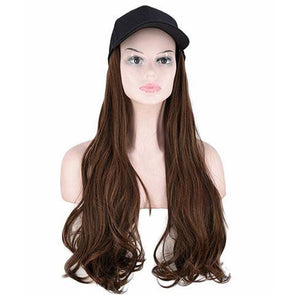 Light brown small roll hat wig