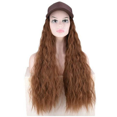 Light blond big roll hat wig