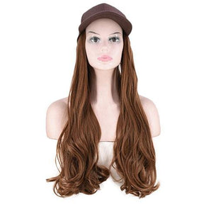 Light blond small roll hat wig