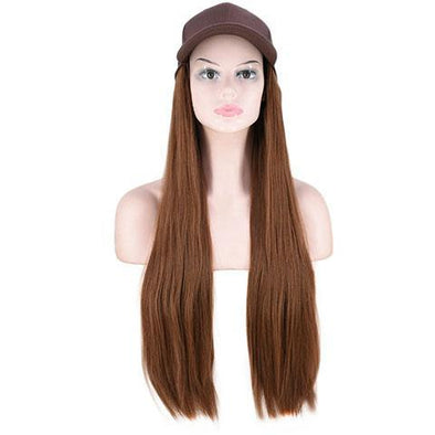 Light blond straight cap wig
