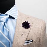 Purple Chiffon Lapel Flower