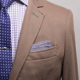 Purple Checkered Pocket Square