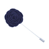 Navy Felt Lapel Flower