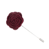 Cranberry Felt Lapel Flower