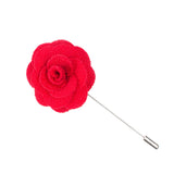 Red Microfiber Lapel Flower