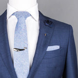Blue Checkered Pocket Square