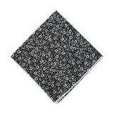 Black & White Floral Pocket Square