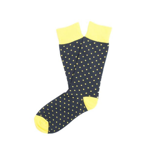 Yellow Pin Dot Socks
