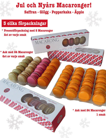 Advent, Jul- och Nyårsmacarons Saffran 24-pack