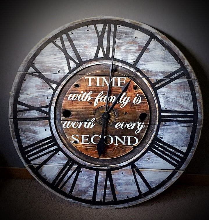 Time Spent With Family Is Worth Every Second Custom Clock