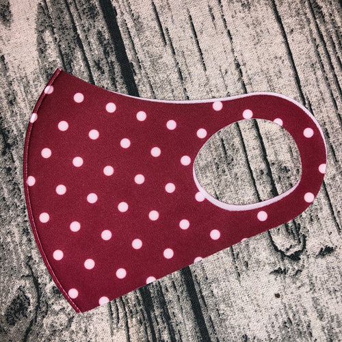 Red & White Polka Dot Face Mask