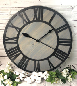 RUSTIC METAL CLOCK