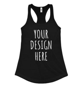 CUSTOM FITNESS TANKS ADD TEXT - Ladies Racerback Tank Top