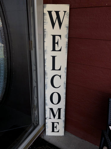 Tall Welcome Porch Sign