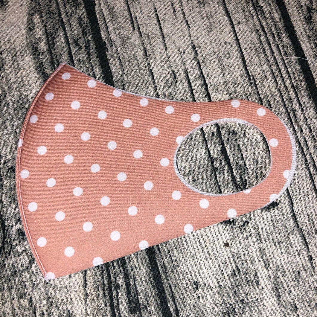 Pink & White Polka Dot Face Mask