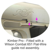 Kimber Pro fitted with Wilson Combat 651 Flat-Wire assembly.
