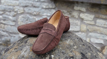 Men's Suede Driving Loafers -  Colorful, Casual & Very Handy for Long Road Trips
