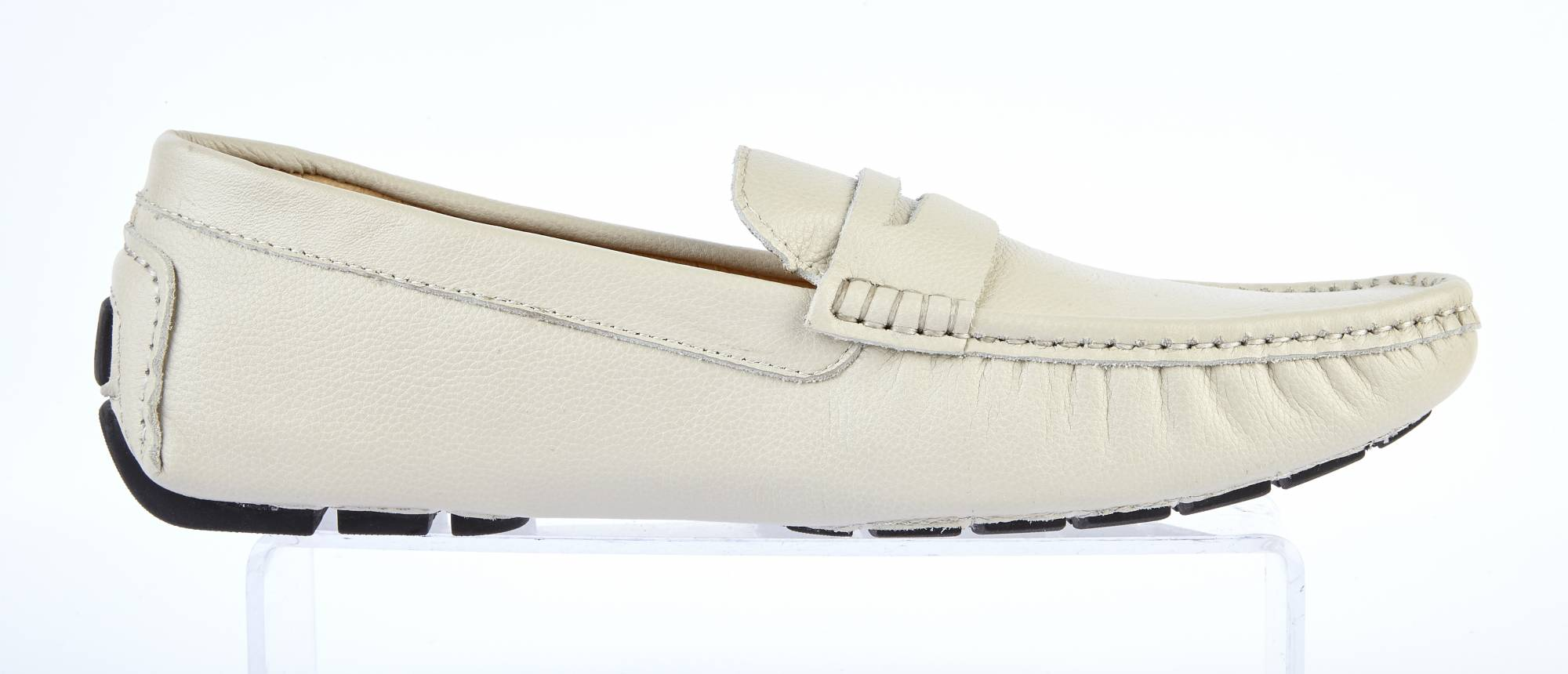ECRU Leather Driving Loafers