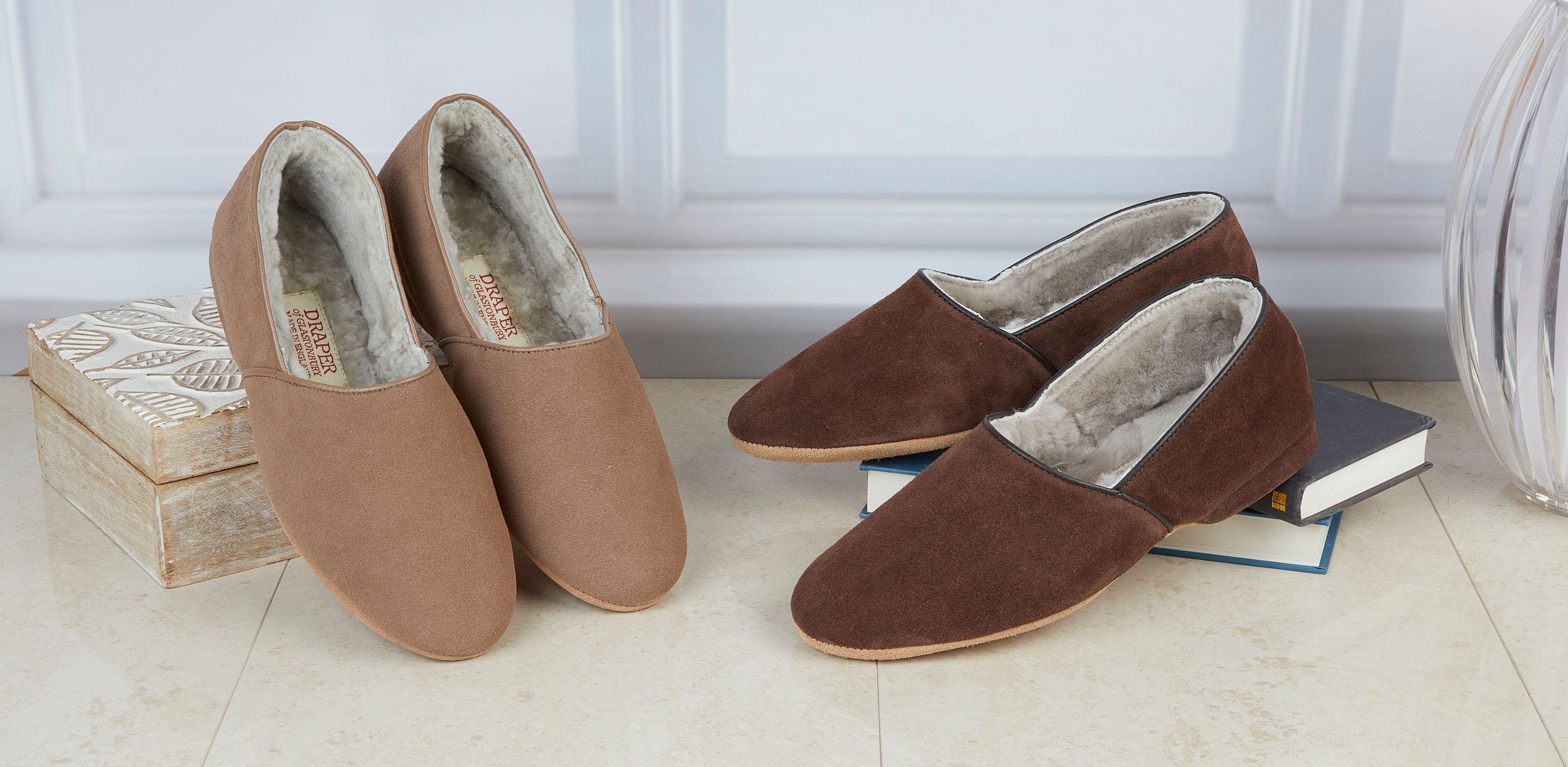 lightweight sheepskin slippers
