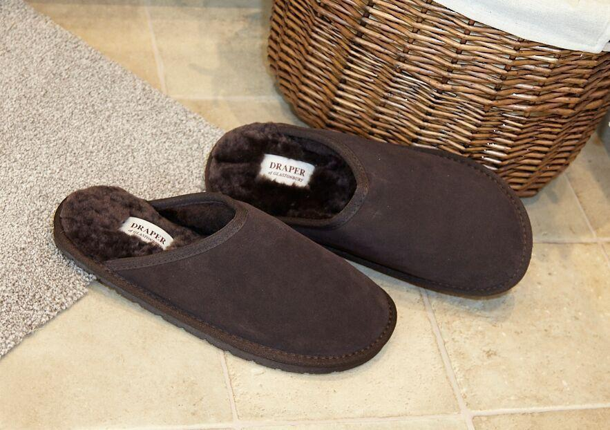 mens shearling slippers