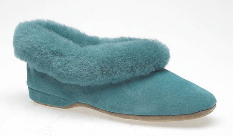 ladies genuine sheepskin slippers