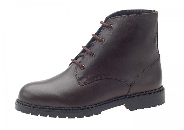 Mens lambswool lined lace up boot