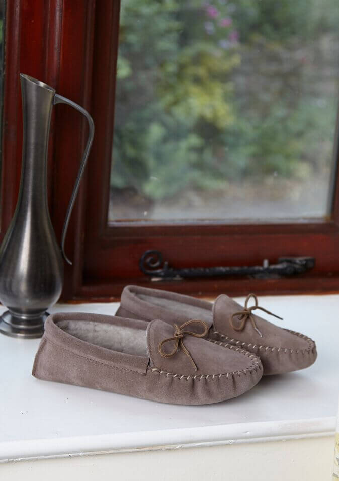 womens  moccasin slippers
