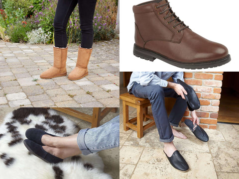 sheepskin slippers and boots