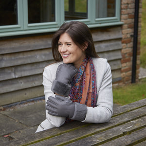 SHEEPSKIN CUFF GLOVES STONE