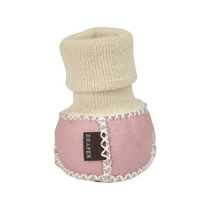 BABY SHEEPSKIN SLIPPER SOCKS - PINK