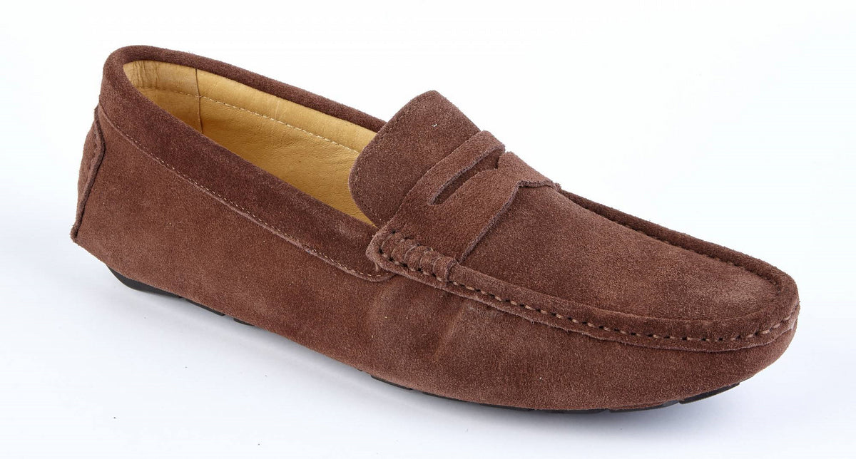 216b055c1fc24 Chocolate Suede Driving Shoes   Mens Casual Suede Shoes   UK   Drapers