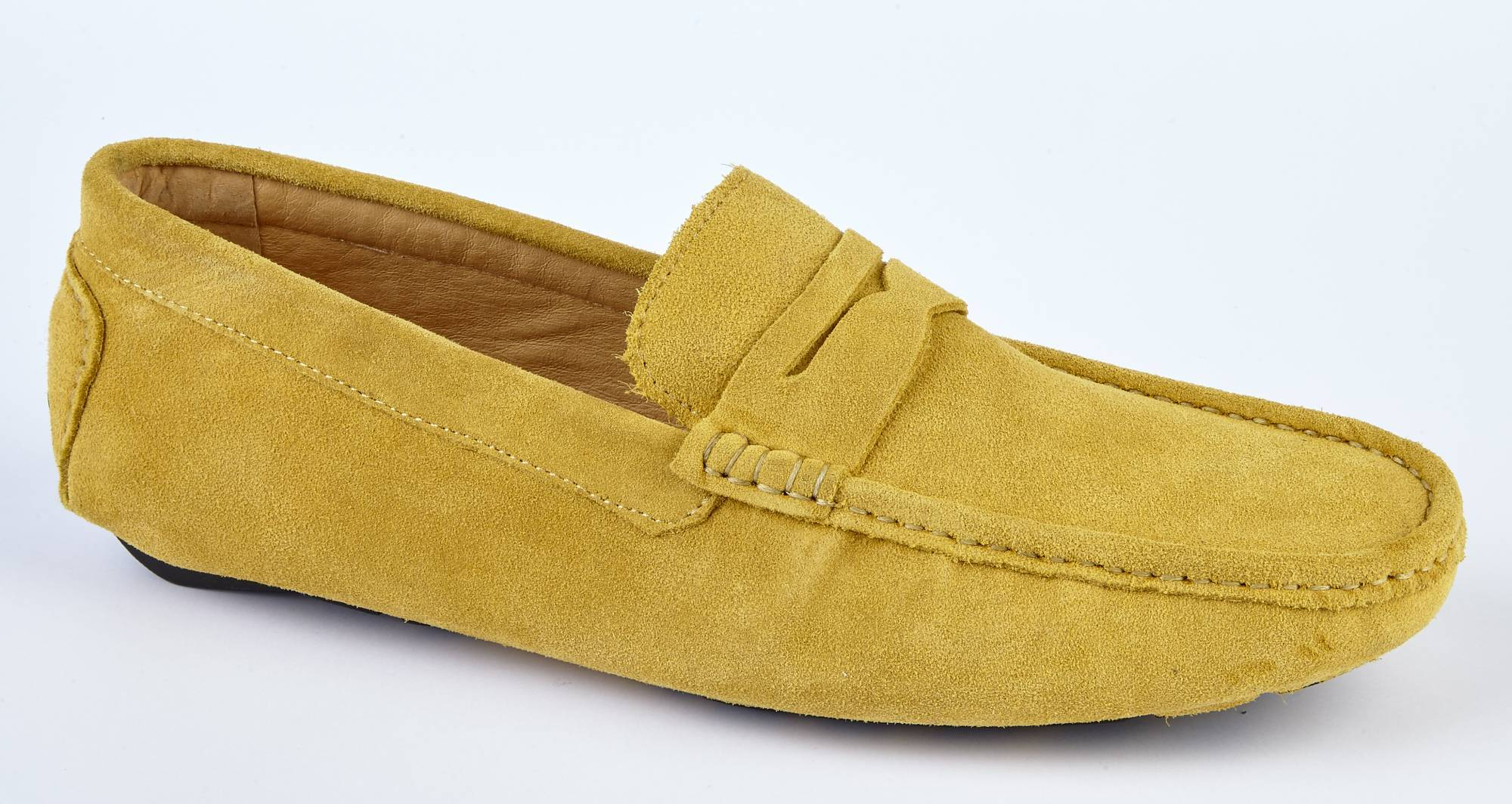 Mustard Suede Loafers | Yellow Mens