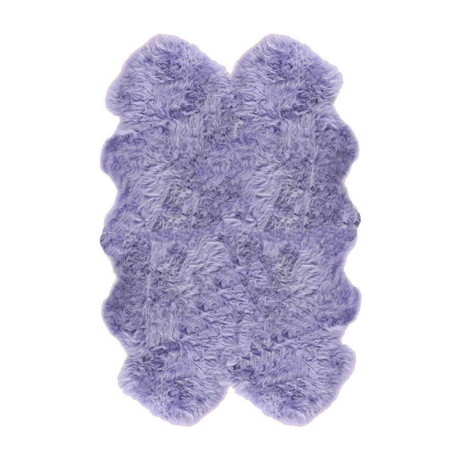 Quadruple Sheepskin Rug Colour Lilac