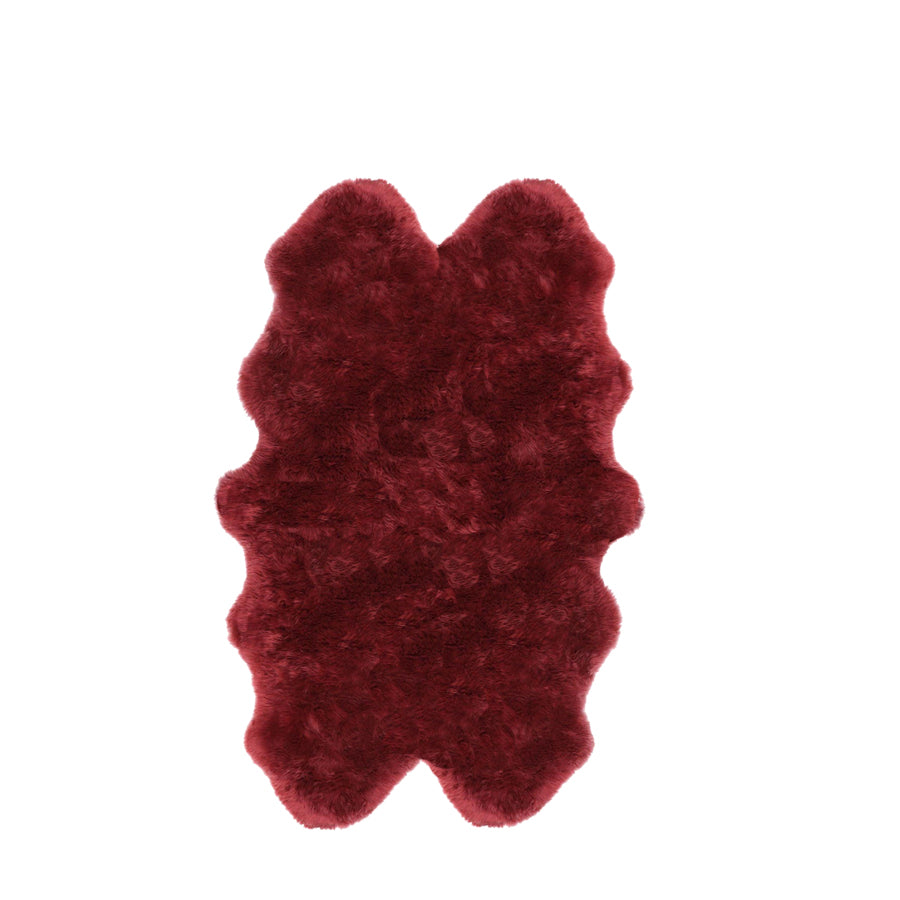 Quadruple Sheepskin Rug Colour Strawberry