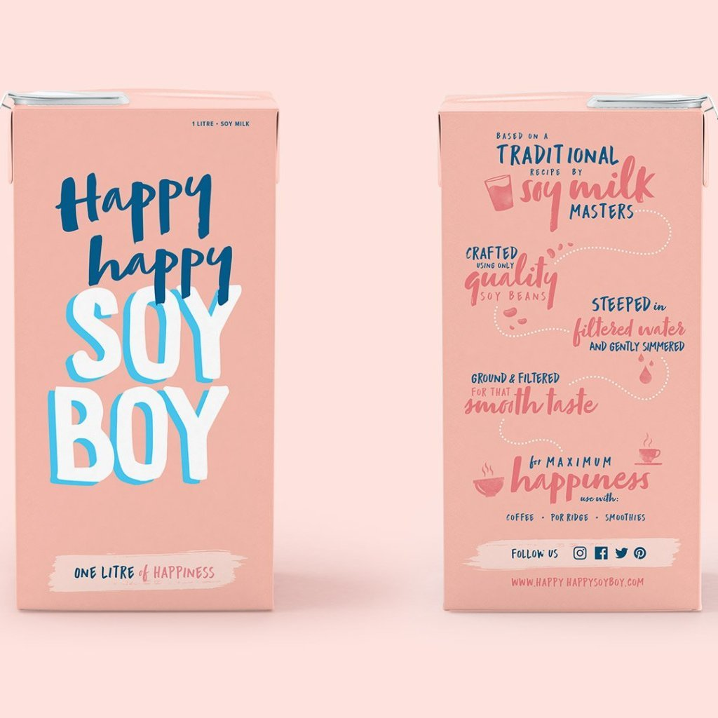 Happy Happy Soy Boy - Soy Milk 1L