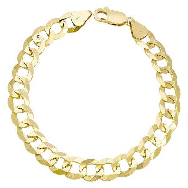 Men's Miami Cuban Curb Link Bracelet Real 10K Yellow Gold - Solid - bayamjewelry