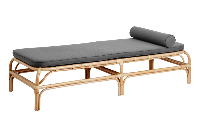 Nordal - Bali Rattan Daybed Med Grå Madrass