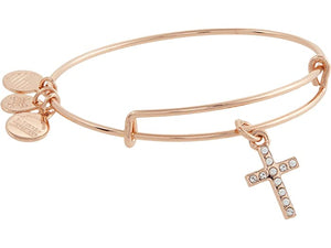 Alex and Ani Pave Cross Bangle Bracelet