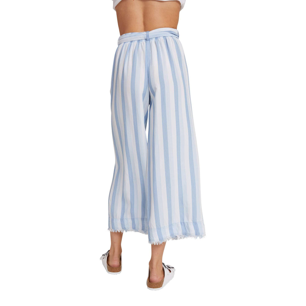 Belted High-Waisted Crop Pants