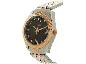 Fossil Scarlette Mini Three-Hand Date Two-Tone Stainless Steel Watch - ES4948