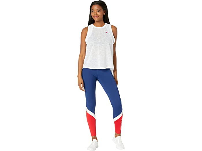 Tommy Hilfiger Sport High-Rise Color-Block Logo Leggings