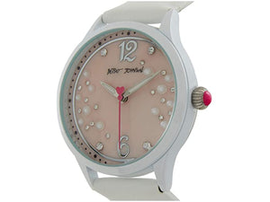Betsey Johnson Scattered Pearl & Stone Watch
