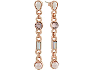 Alex and Ani Crystal Pearl Drop Earrings