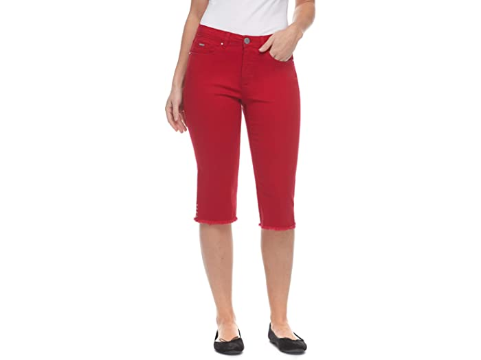 FDJ French Dressing Jeans Sunset Hues Denim Olivia Pedal Pusher in Red
