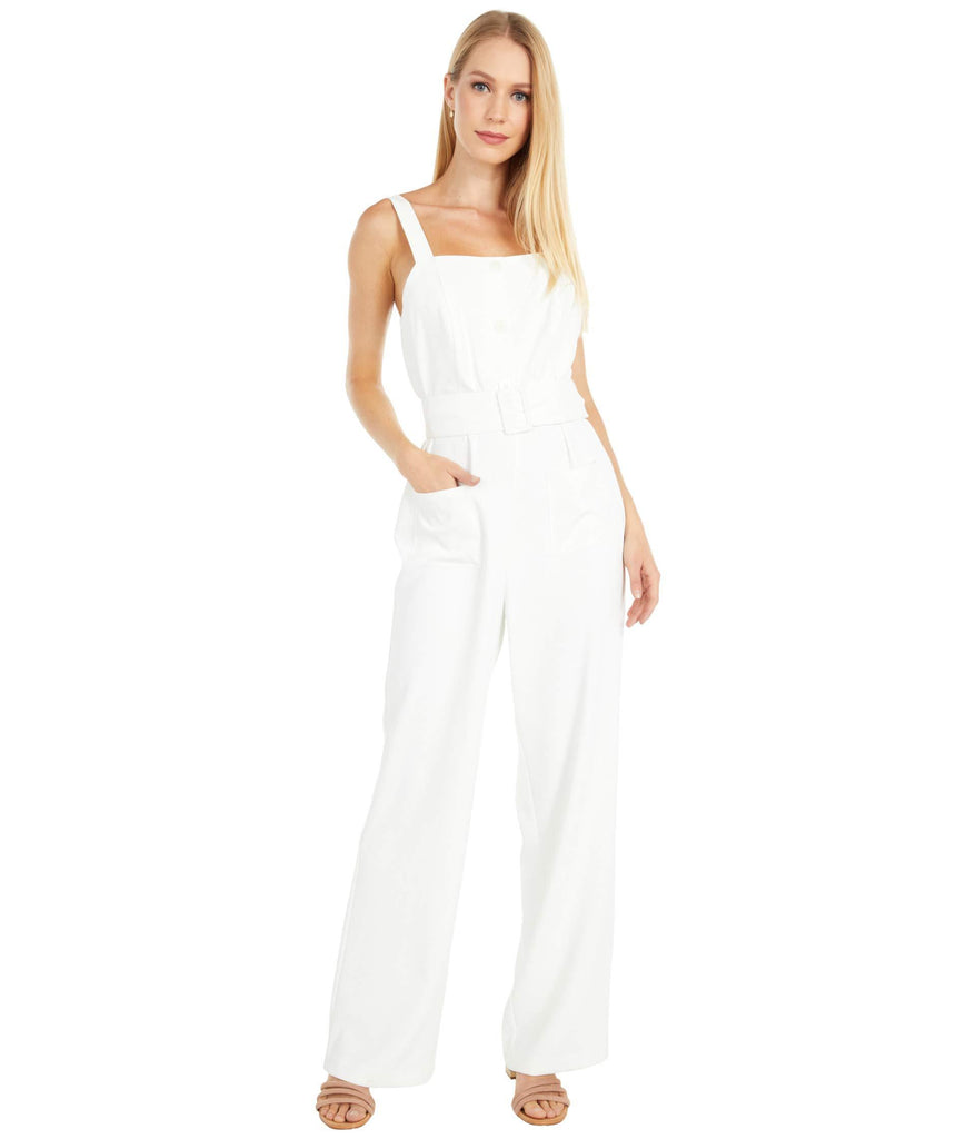 Minerva - Heavy Crepe Jumpsuit with Belt and Patch Pockets