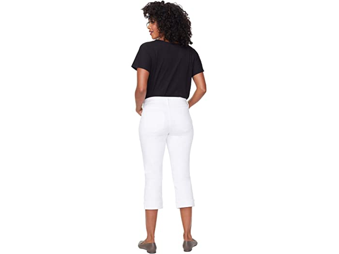 NYDJ Petite Petite Marilyn Crop Cuff Jeans in Optic White