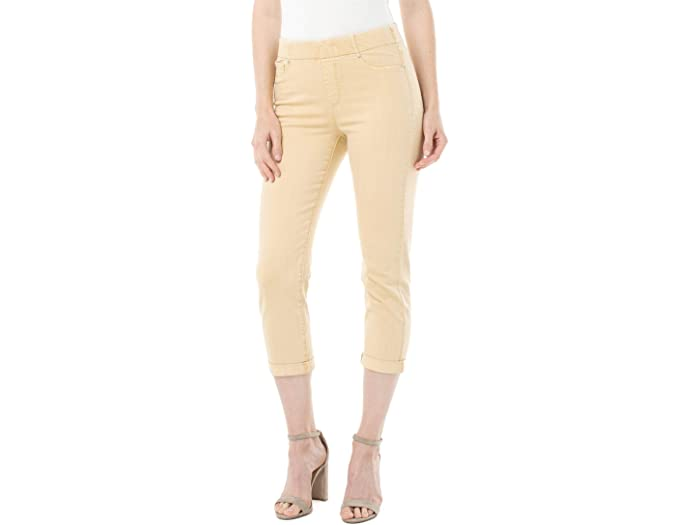 Liverpool Chloe Crop Rolled Cuff in Dijon Yellow